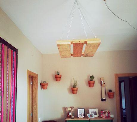 lampara techo palet | Lámparas Mind Made | Pinterest