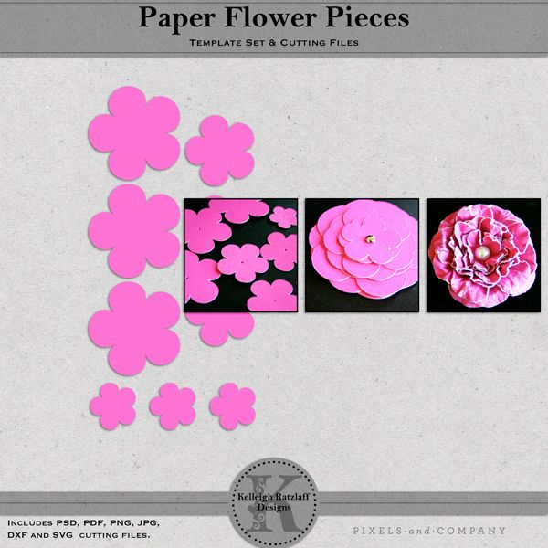 A FREE set of flower templates in graduating sizes to assist you in ...
