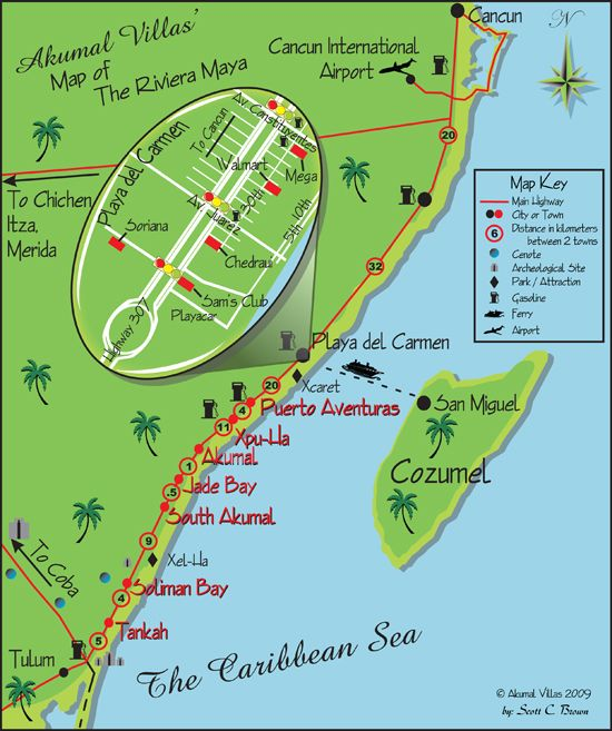 Image Result For Image Result For Map Of All Inclusive Resorts In Riviera Maya Mexico