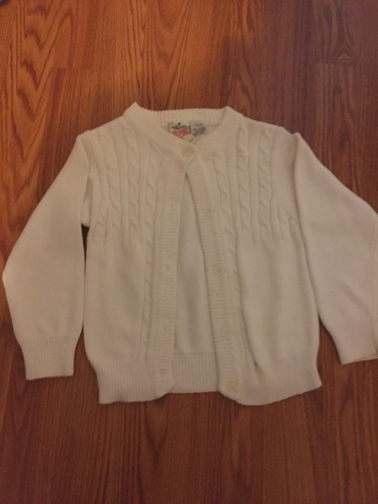 Radishes And Roses Little Girls White Sweater Size 45 Fashion