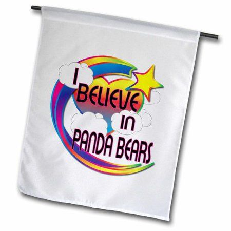 3dRose I Believe In Panda Bears Cute Believer Design, Garden Flag, 12 by 18-Inch - Walmart.com