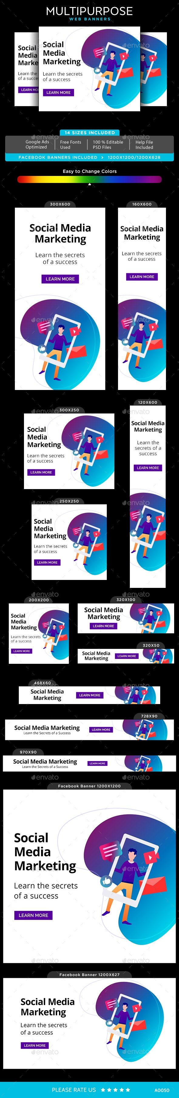 Multipurpose Web Banner Set