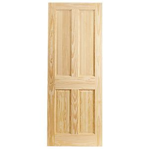 Wickes Skipton Clear Pine 4 Panel Internal Door 1981mm X 686mm In 2020 Fire Doors Internal Fire Doors 4 Panel Internal Doors