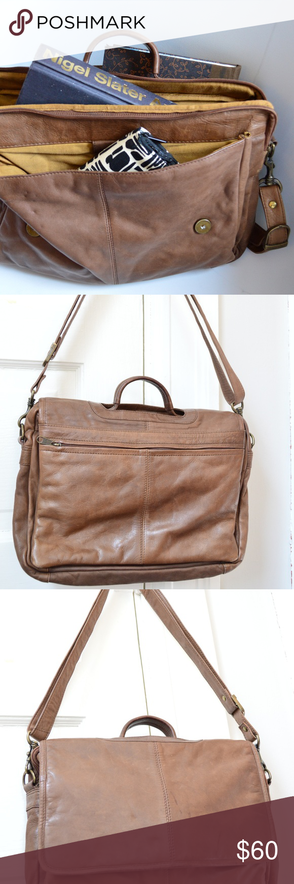 Vintage Wilson's Leather Satchel Wilsons leather bag