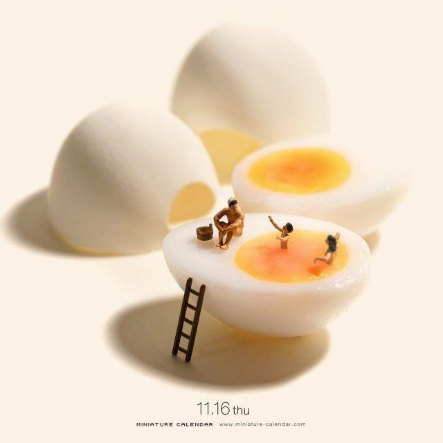 Tatsuya Tanaka Continues Building Tiny Worlds in his Daily Miniature Calendar Photo Project #dioramaideas