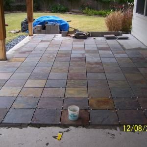 Ordinaire Slate Tiles Over Concrete