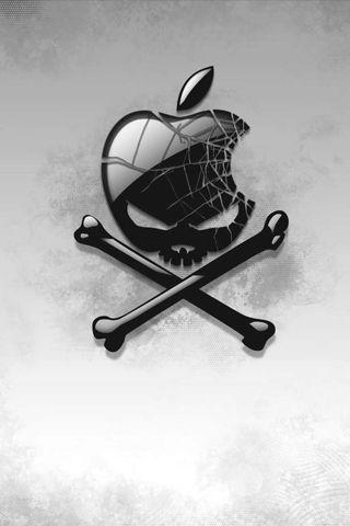 Cracked Apple Skull iPhone Wallpaper | Apple'tite! in 2019