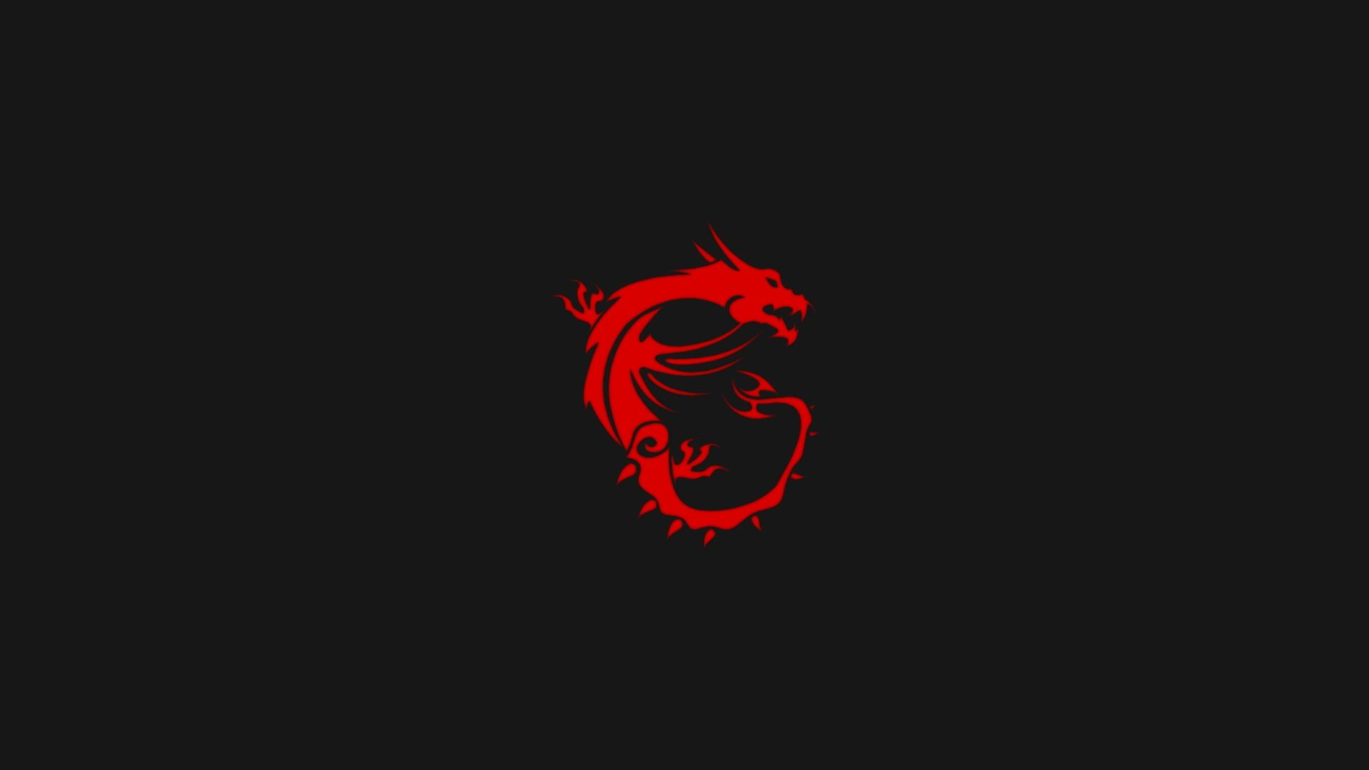 Red Dragon Digital Wallpaper Msi Simple Minimalism