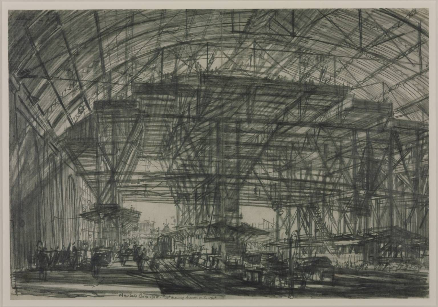 Sir Muirhead Bone 'Study for 'The Great Gantry, Charing Cross Station'', 1906 © The estate of Sir Muirhead Bone