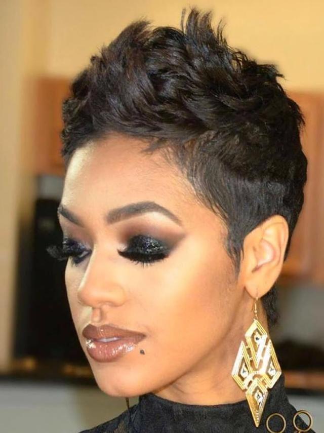 Best 50 Pixie Short Haircuts For Black Women 2019 Hairstyles Ideas Black Women Short Hairstyles Hair Styles Black Haircut Styles