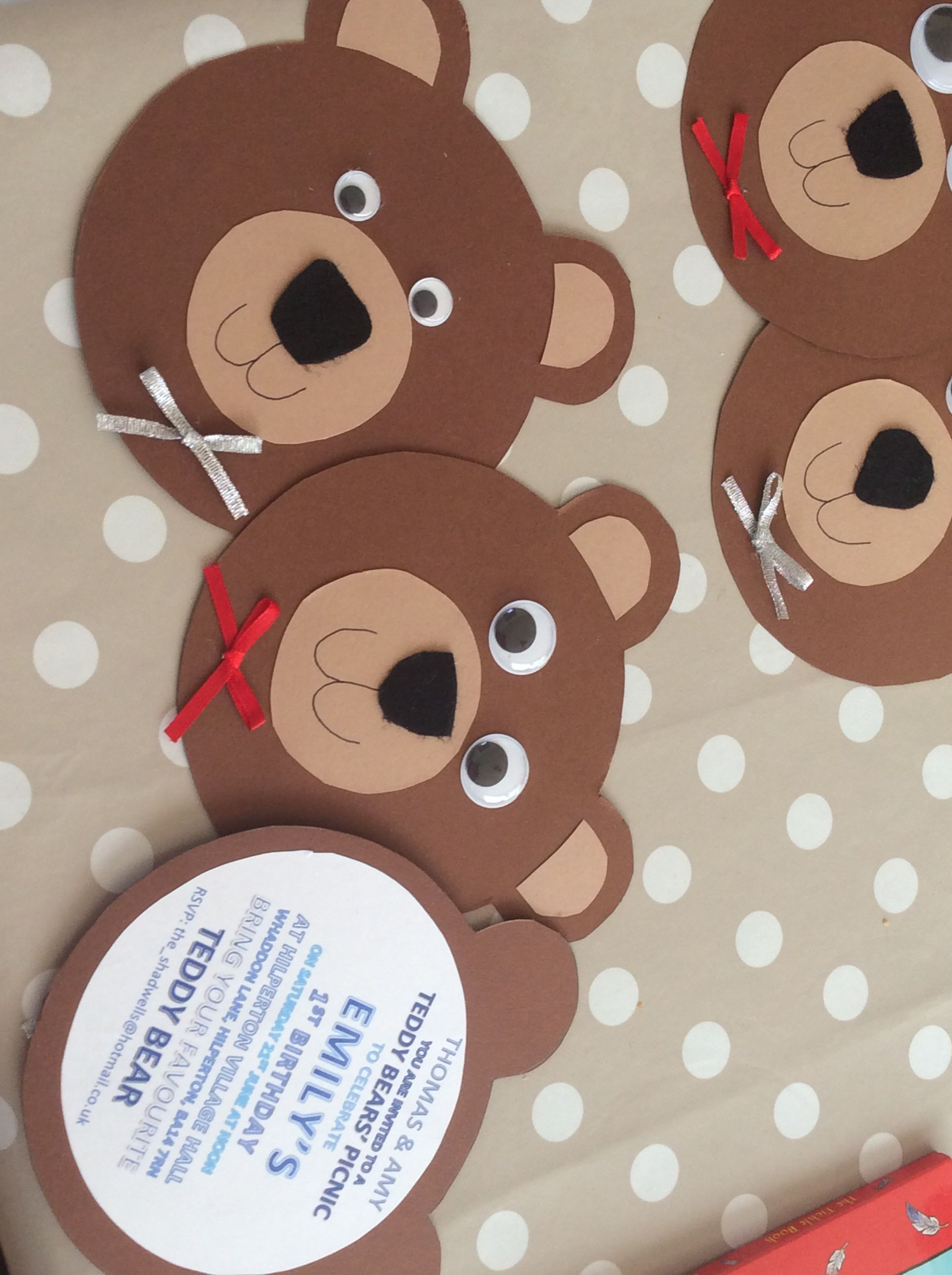 Teddy Bears Picnic Invite For First Birthday In