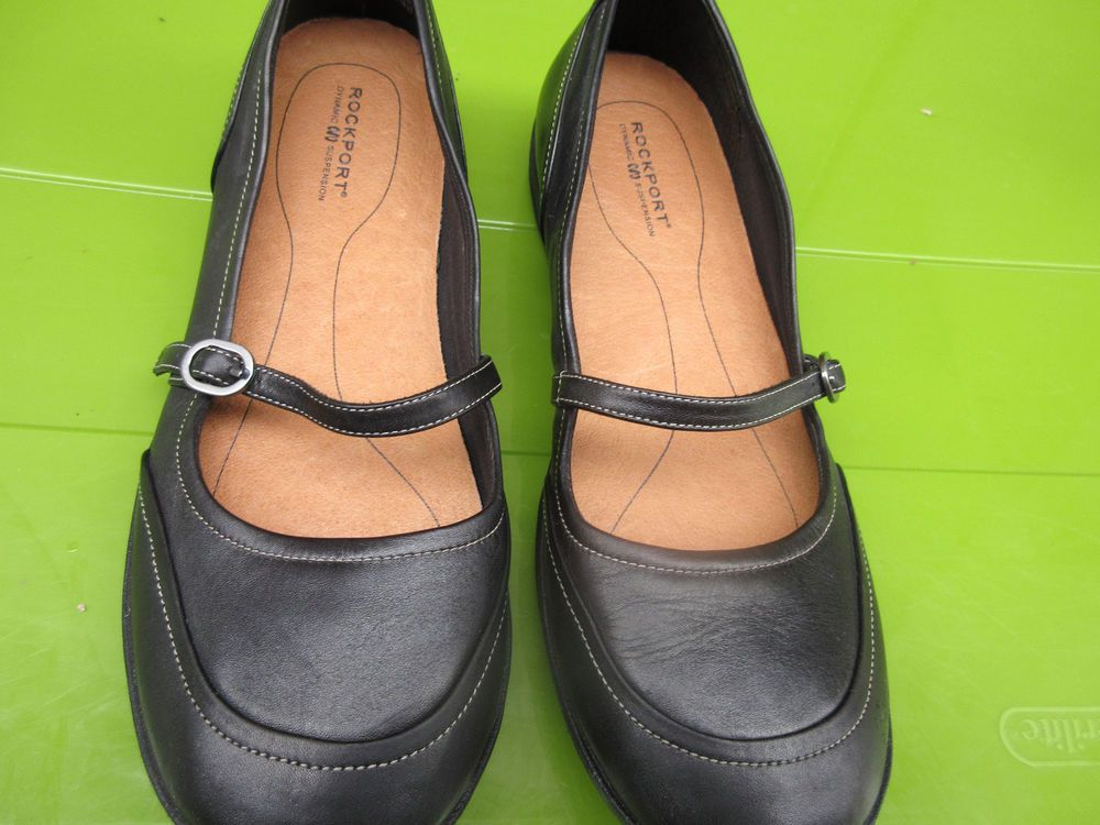 b0b4336c829 Rockport black mary janes sz 8 n apw 26491 --bin 17  fashion  clothing   shoes  accessories  womensshoes  flats