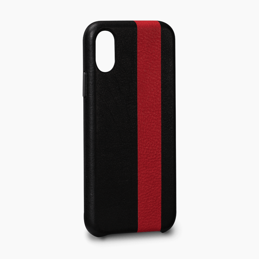 Try The Thin Premium Racing Stripe Leather Snap On Case That Hugs The Curve Of The Iphone X 8 7 Plus With A Prote Iphone Leather Case Iphone Cases Iphone