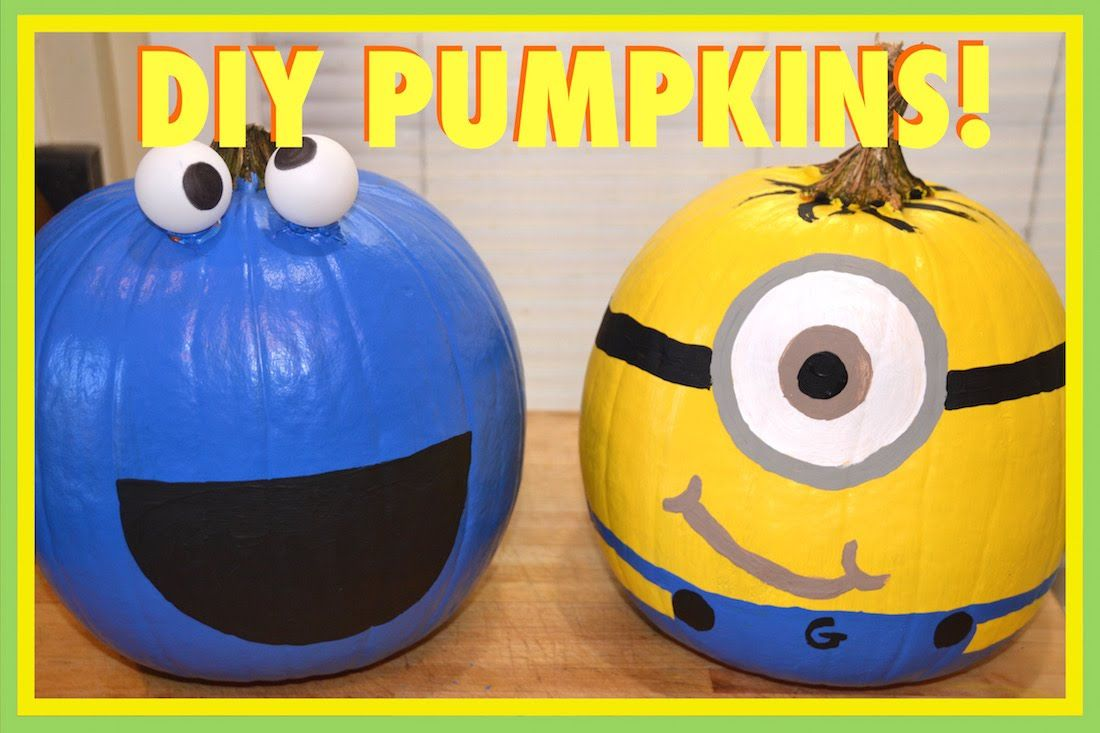 MINION & COOKIE MONSTER PUMPKINS! | VLOGTOBER DAY 7 - YouTube