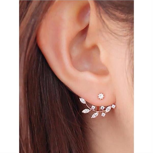 Cubic Zirconia Magic Back Imitation Diamond Earring In 2020 Unique Earrings Diamond Earrings Studs Jewelry Trends