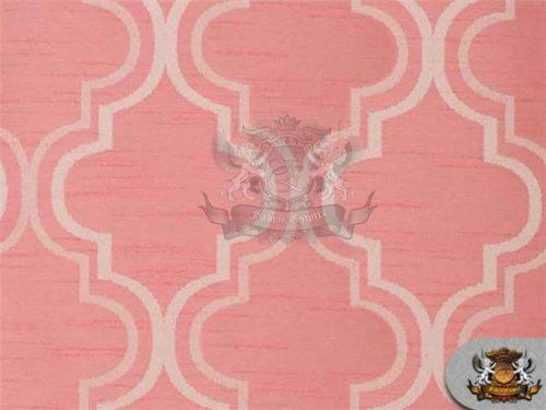 "Jacquard PENROSE Blush Pink Fabric / 63"" Wide / Sold by the Yard"
