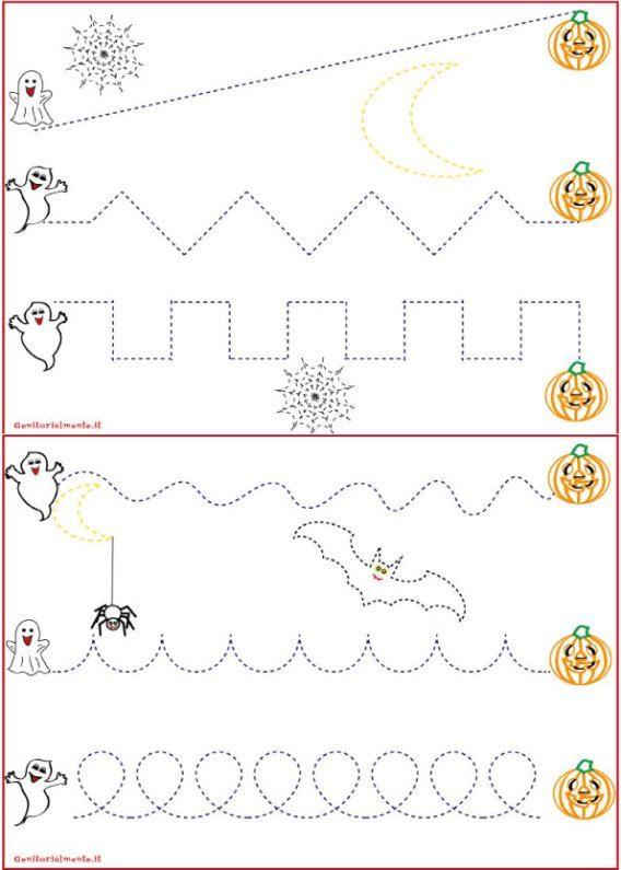 Schede pregrafismo percorsi: linee rette e curve | genitorialmente ...