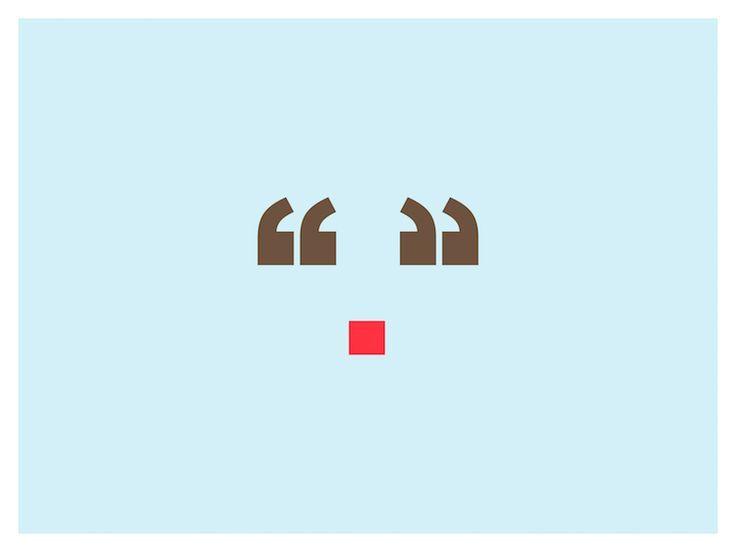 rudolph  weihnachten typografie weihnachts grafikdesign