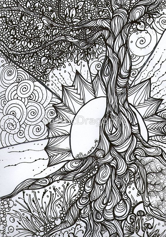 Simple Coloring Pages Tree Of Life