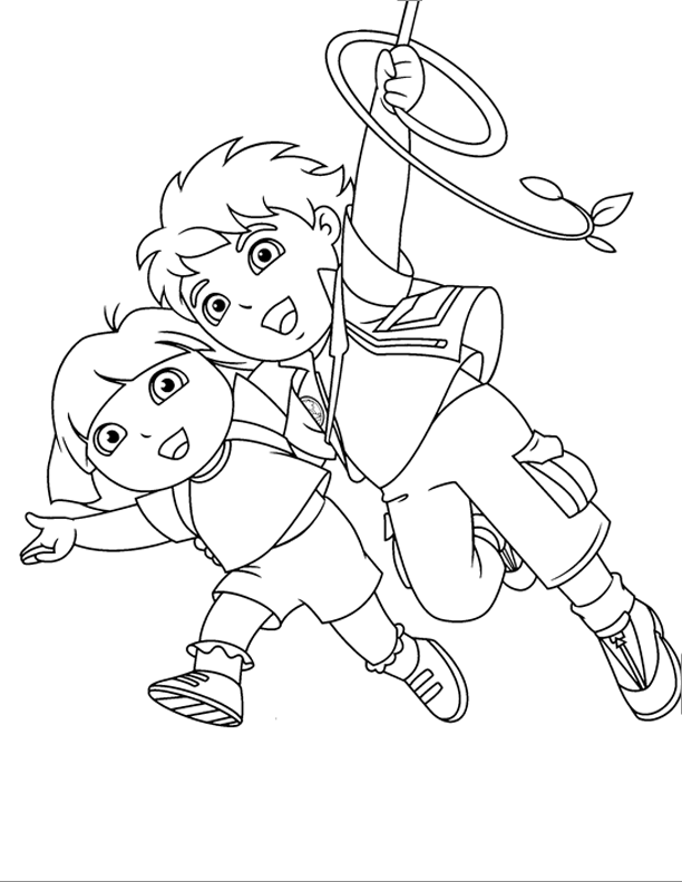 Go Diego Go! Swinging In The Roots | Go Diego Go! Coloring Pages ...