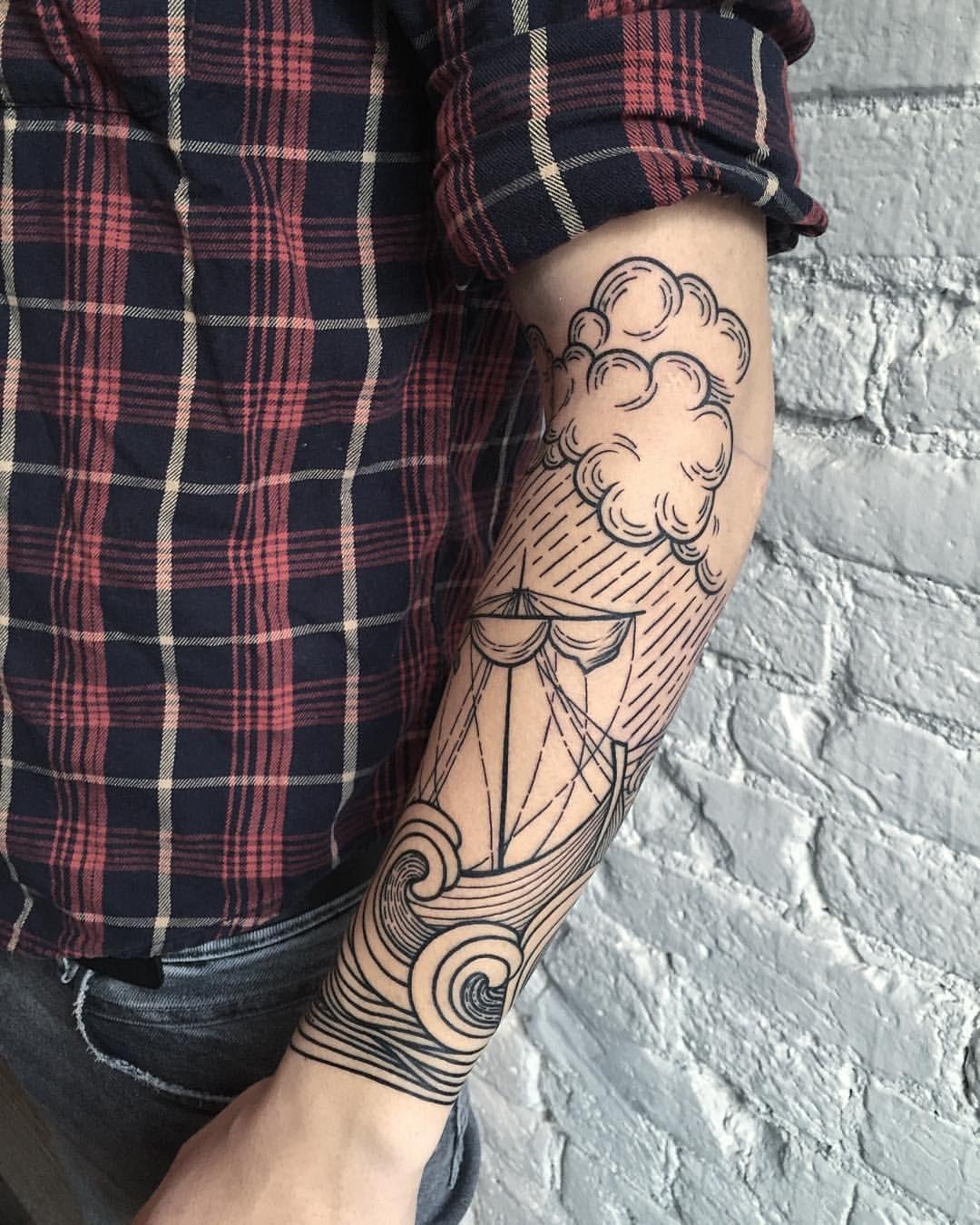 Tattoo Designs Sleeve: Love This Nautical Half Sleeve!