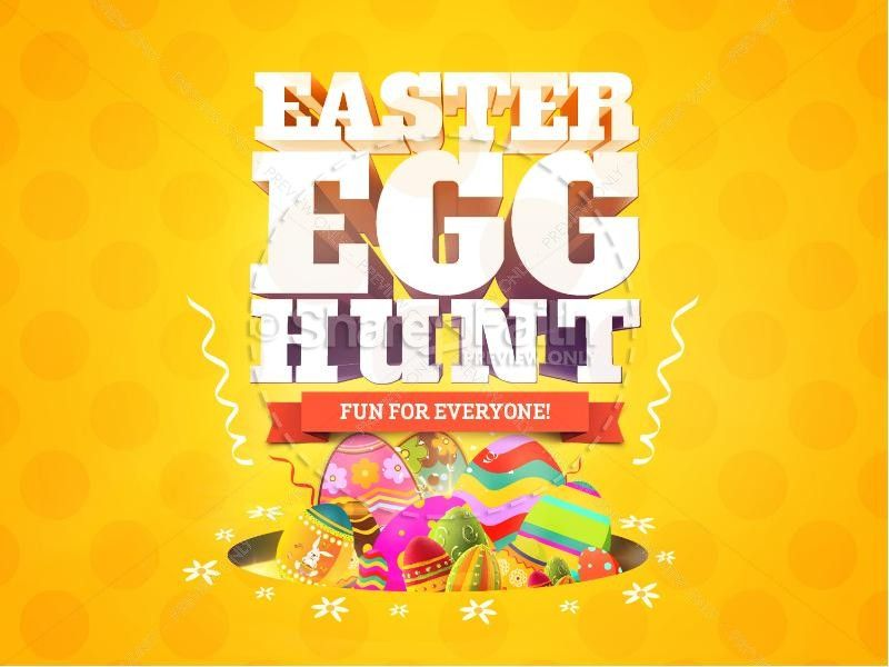 Get everyone excited for the big upcoming Easter Egg Hunt with - easter powerpoint template