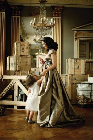 Crown Princess Mary and Princess Isabella. Mary was pregnant with the twins when this was taken.