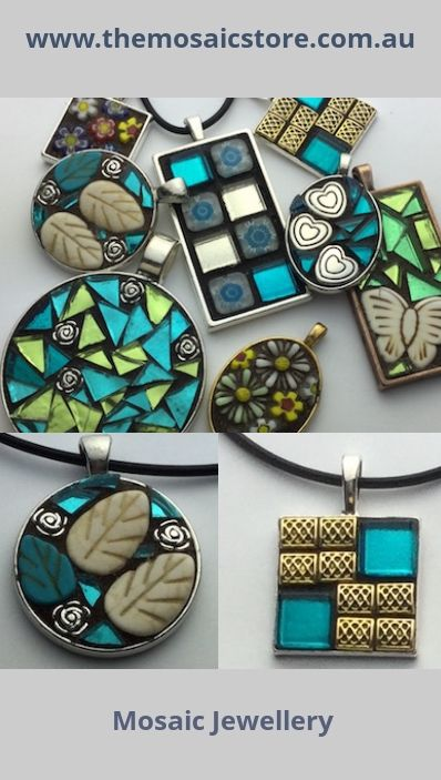 Mosaic jewellery is beautiful and easy to make click here for Jewelry making supply store