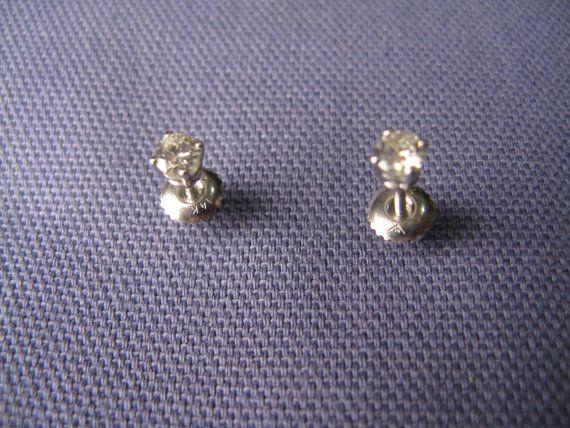 Baby Diamond Stud Earrings (Or Noserings). $100.00, via Etsy.