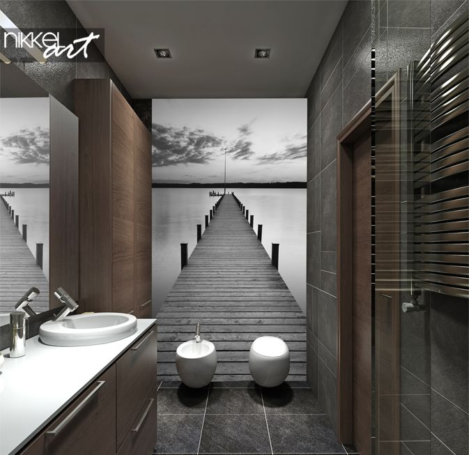 Accent Wall Good Or Bad: Phenomenal Wall Murals In Toilet (avec Images