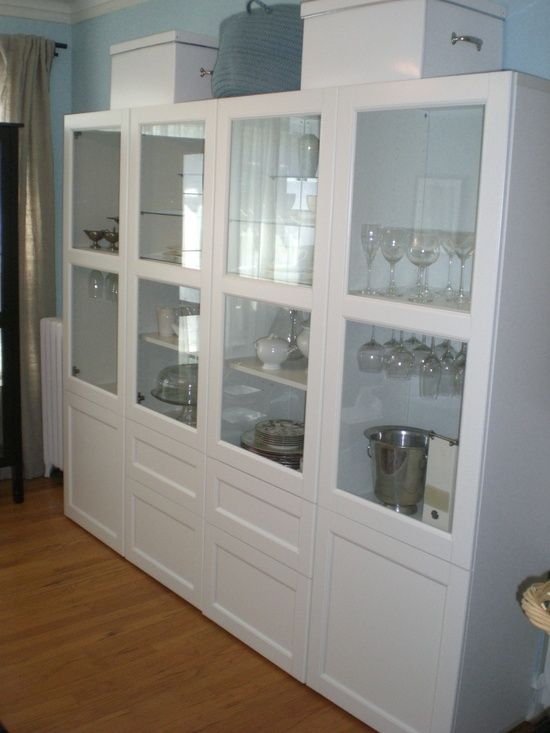 Wall of storage...IKEA besta system. For the dining room? | For the ...
