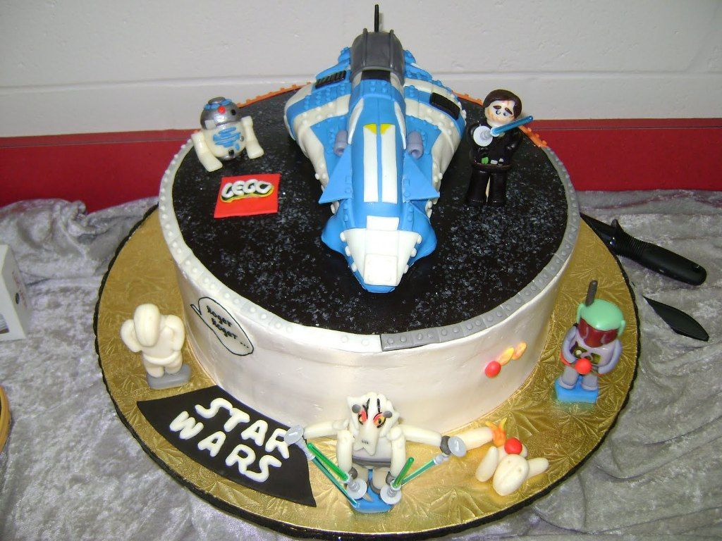 Achieving Bakers Bliss Lego Star Wars Birthday Cake Toppers