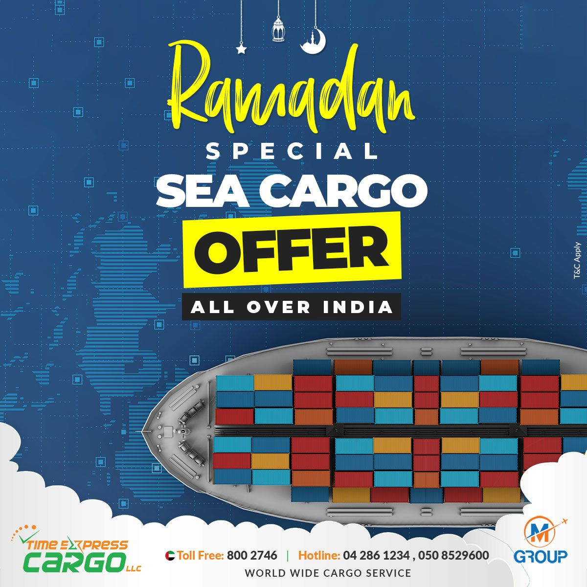 Ramadan Special Sea Cargo Offer All Over India Terms And Conditions May Apply Call Us On 04286 1234 050 8529600 Toll Free In 2020 Cargo Services Air Cargo Airfreight