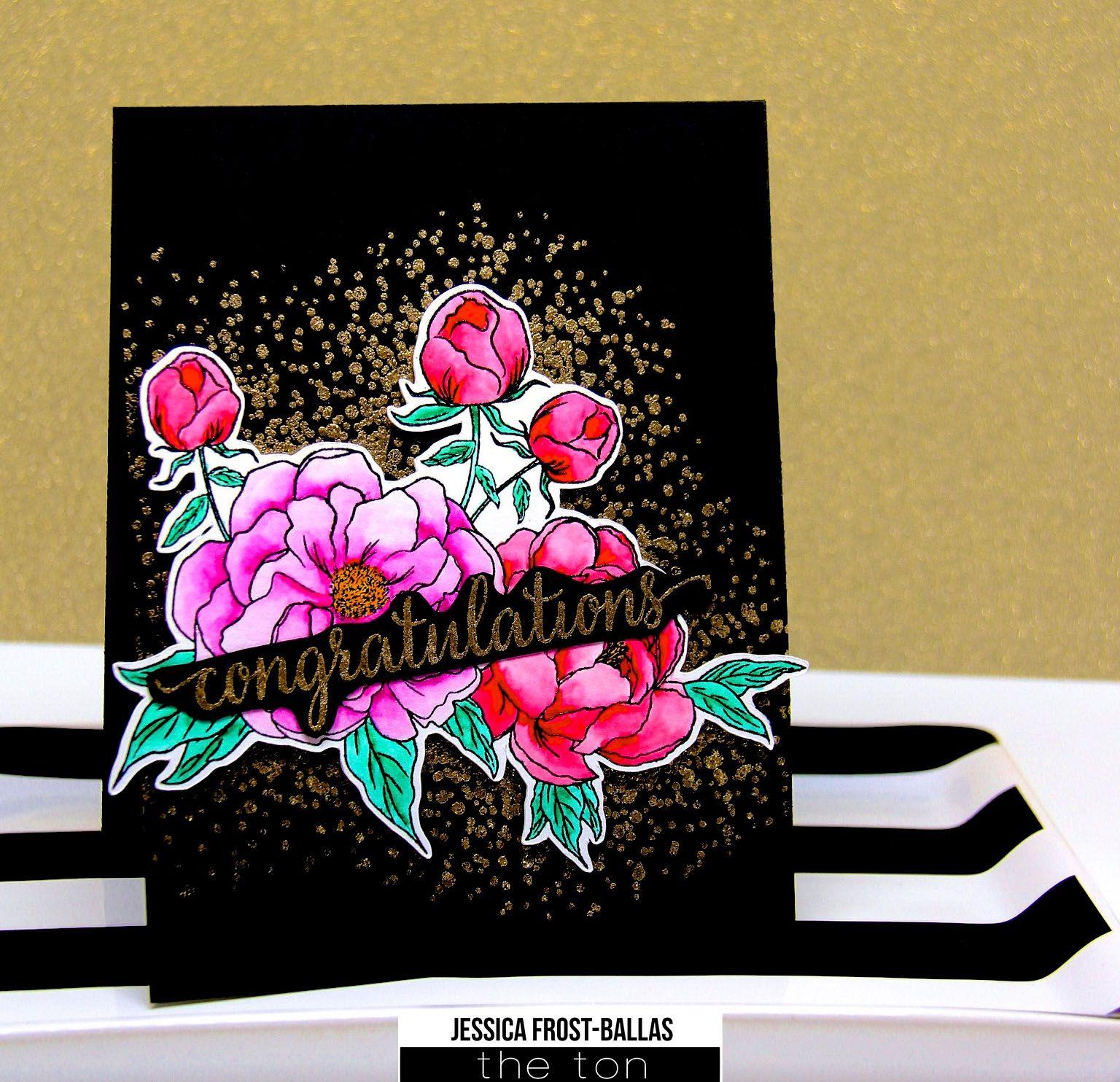 Bokeh Flowers Wedding: Flower Cards, Paper Crafts, Card Making