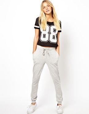 27 Pantalon De Chandal Gris De Asos Pantalones De Chandal Ropa Moda Para Mujer