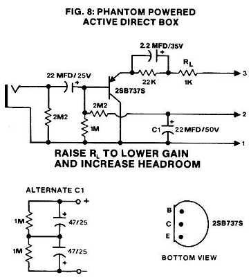 Phantom Powered Active Direct Box Jpg 363 404 Diy Guitar Amp Direct Boxes Electronics Projects