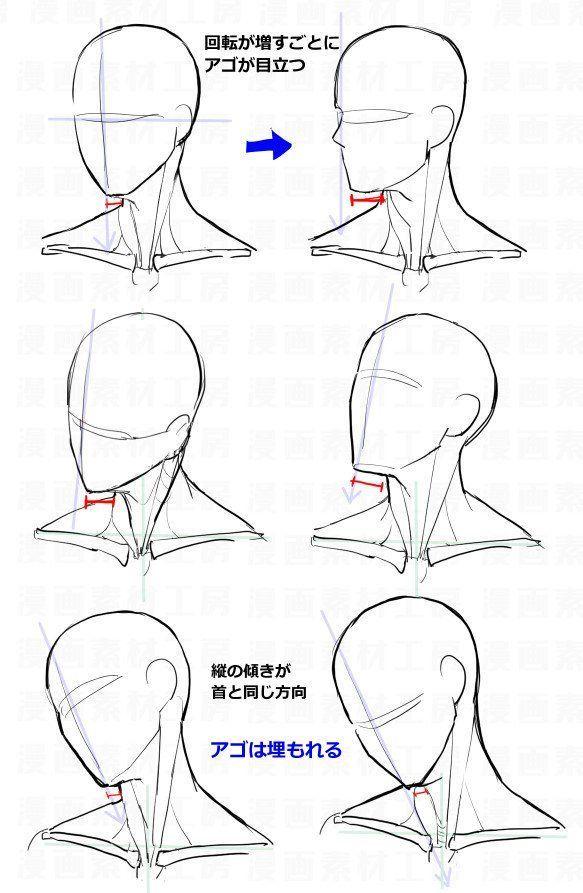 La position du menton dand les mouvements de tête.