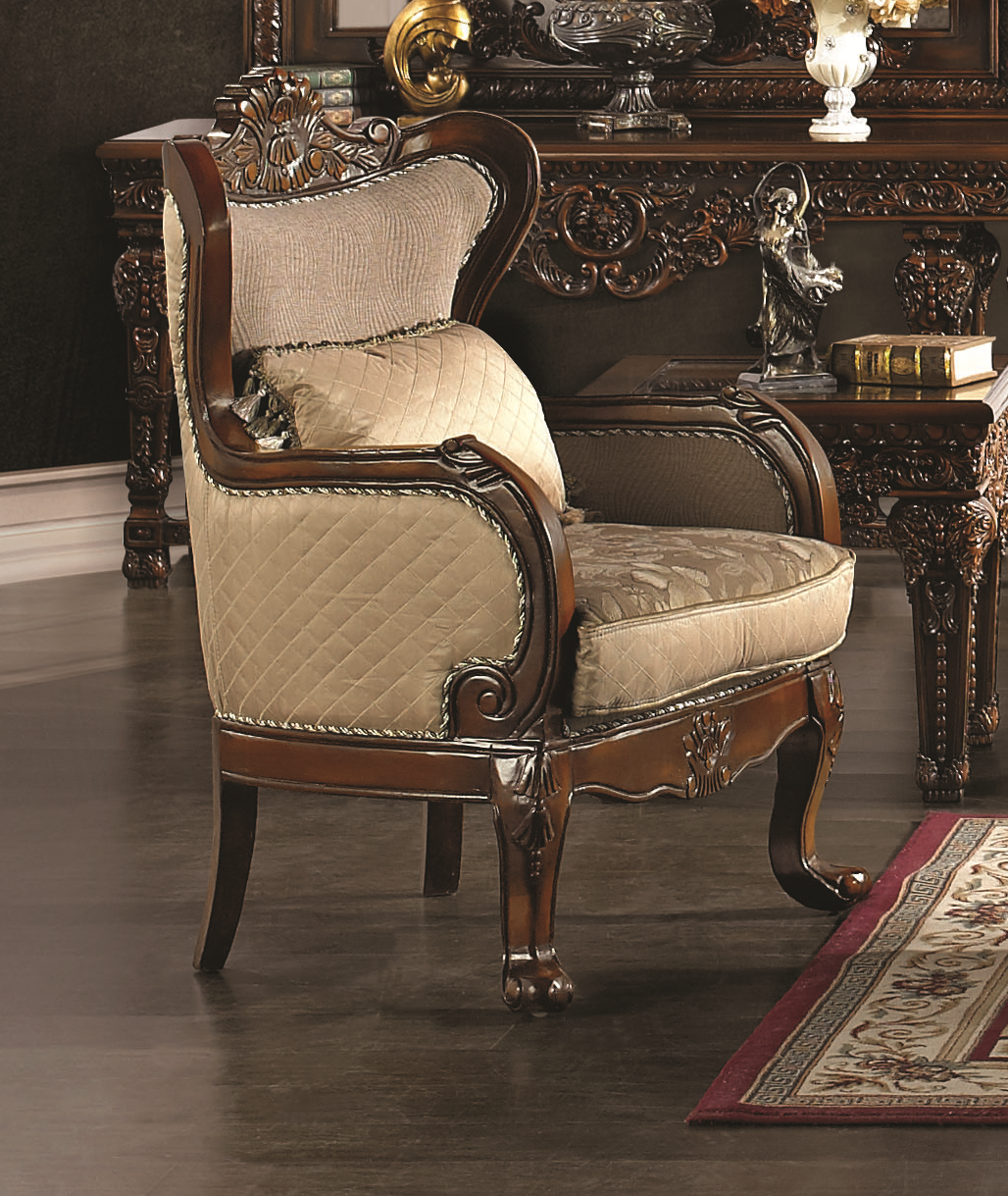Homey Design Hd 296 Traditional Sofa Chair