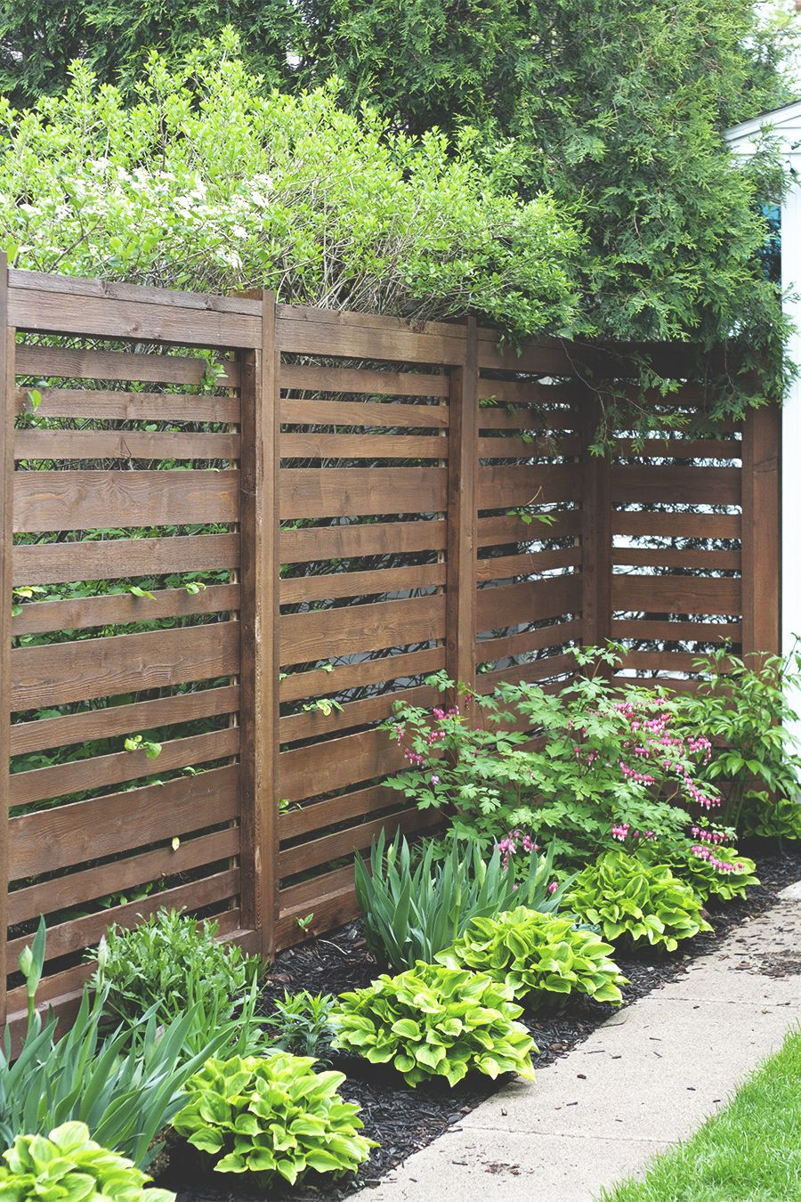 1 Year Later Our Horizontal Fence Privacy Fence Designs Fence