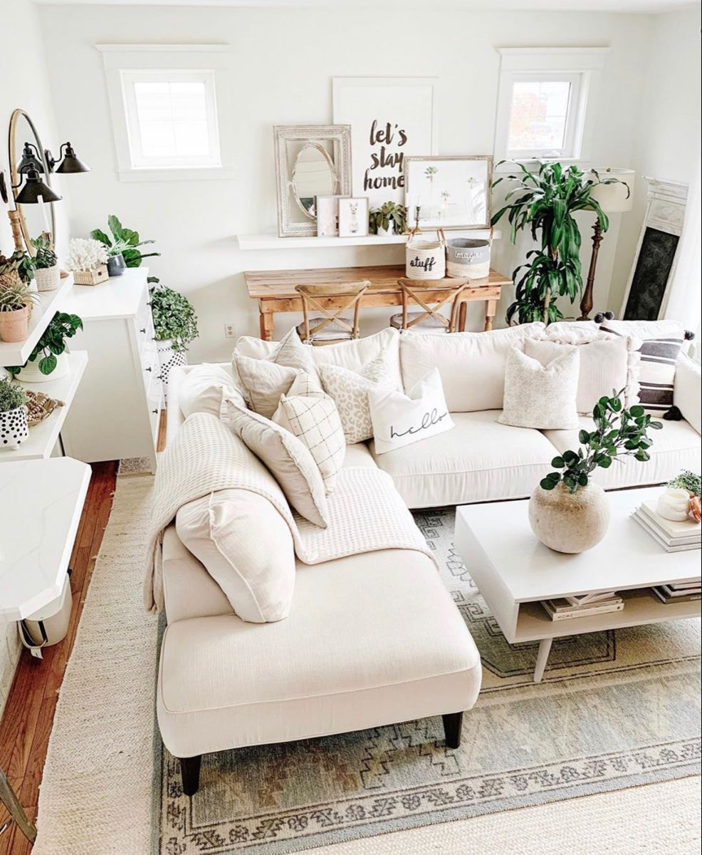 Light Neutral Boho Living Room Decor In 2020 Boho Living Room Decor Boho Living Room Boho Chic Living Room #neutral #bohemian #living #room