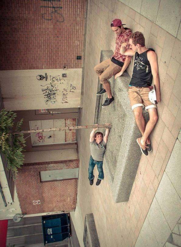 Forced Perspective Upside Down Photography Kreativ Fotografering Inspirerende Billeder Sjove Fotos