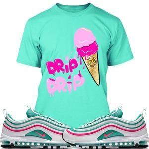 low priced 6e275 5f397 Planet Grapes T-Shirt Air Max 97 South Beach Sneaker Tees Shirts - DRIP DRIP