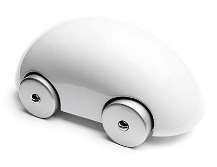 White Streamliner Car