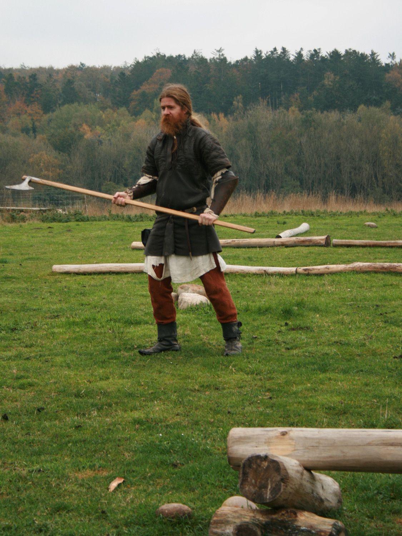 Viking At Fyrkat In Denmark