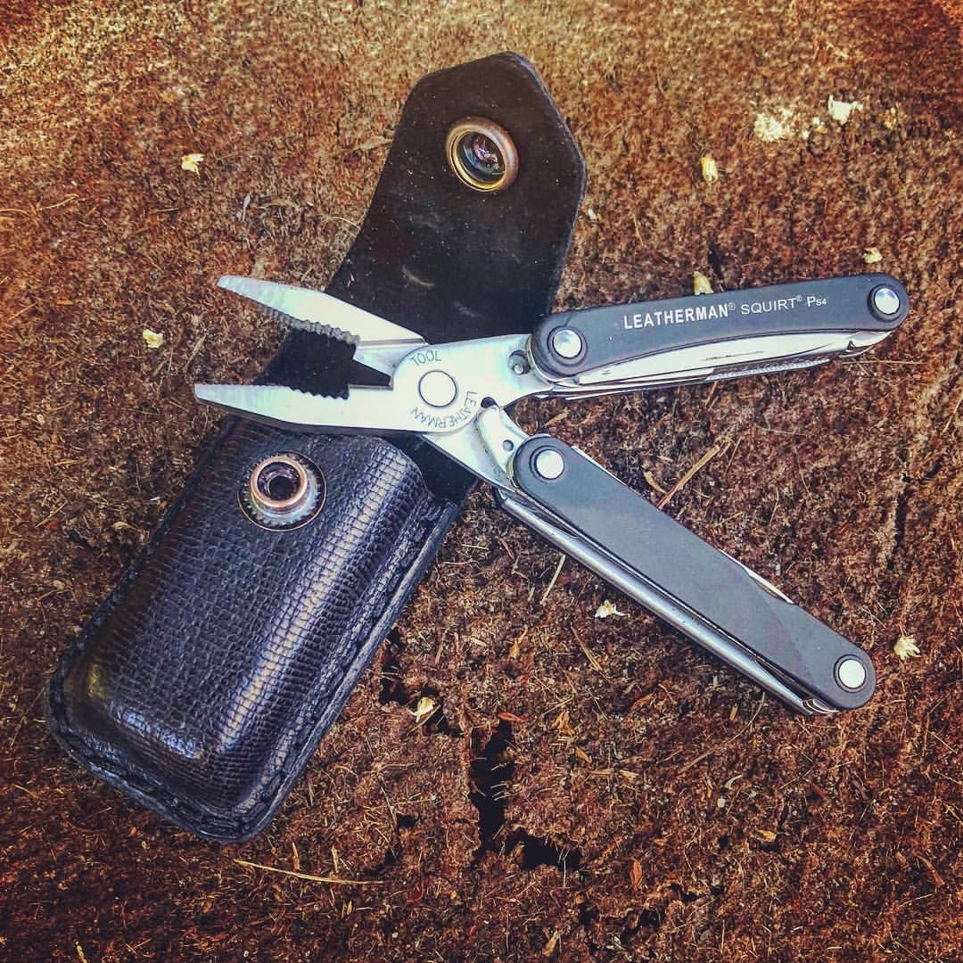 Leatherman Squirt Sheath Made From Kangaroo With Goat
