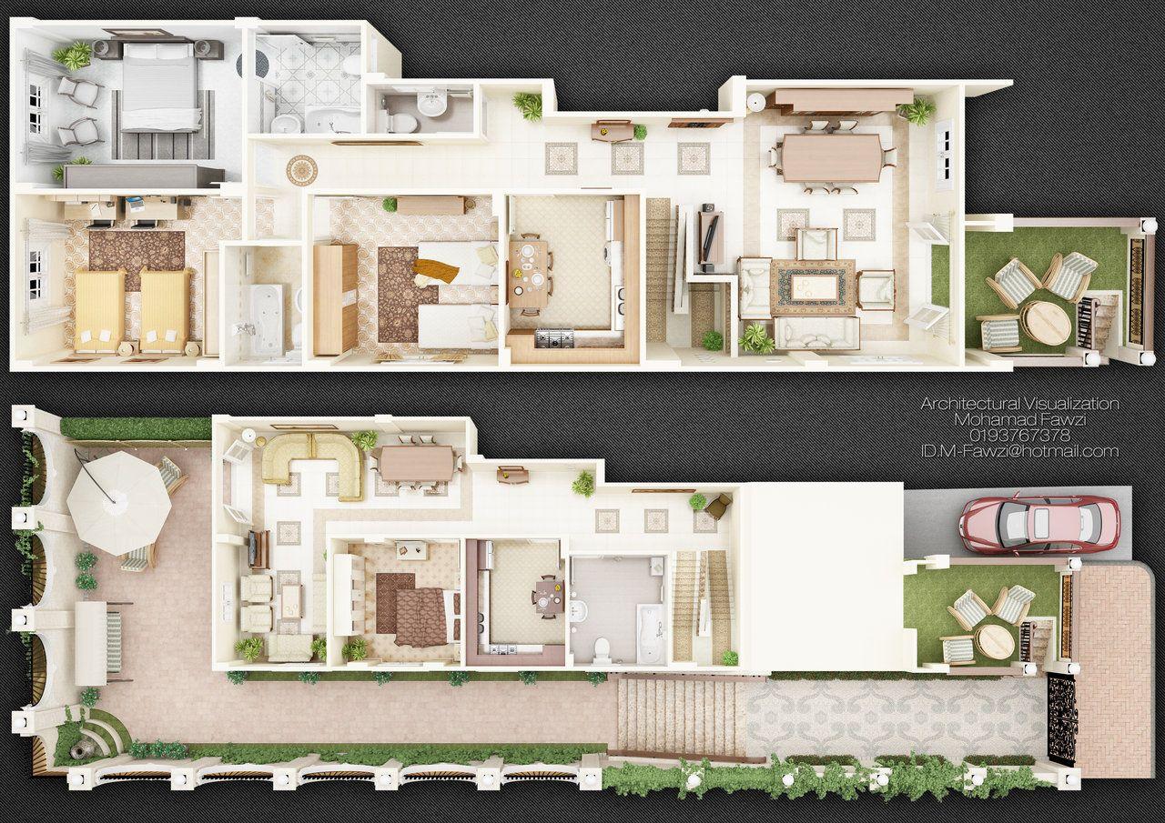 3D Duplex Homes Image