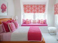 Kinderzimmer, Teenager Mädchen Schlafzimmer, Mädchen Schlafzimmer Rosa,  Teenagermädchen Bettwäsche, Mädchenzimmer (jung), Kleine Mädchen,  Raffrollos, ...