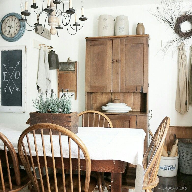 Farmhouse kitchen dining room at home on sweetcreek