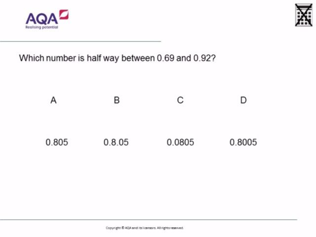 Basic Decimals Diagnostic Questions Math Quizzes Gcse Math Aqa