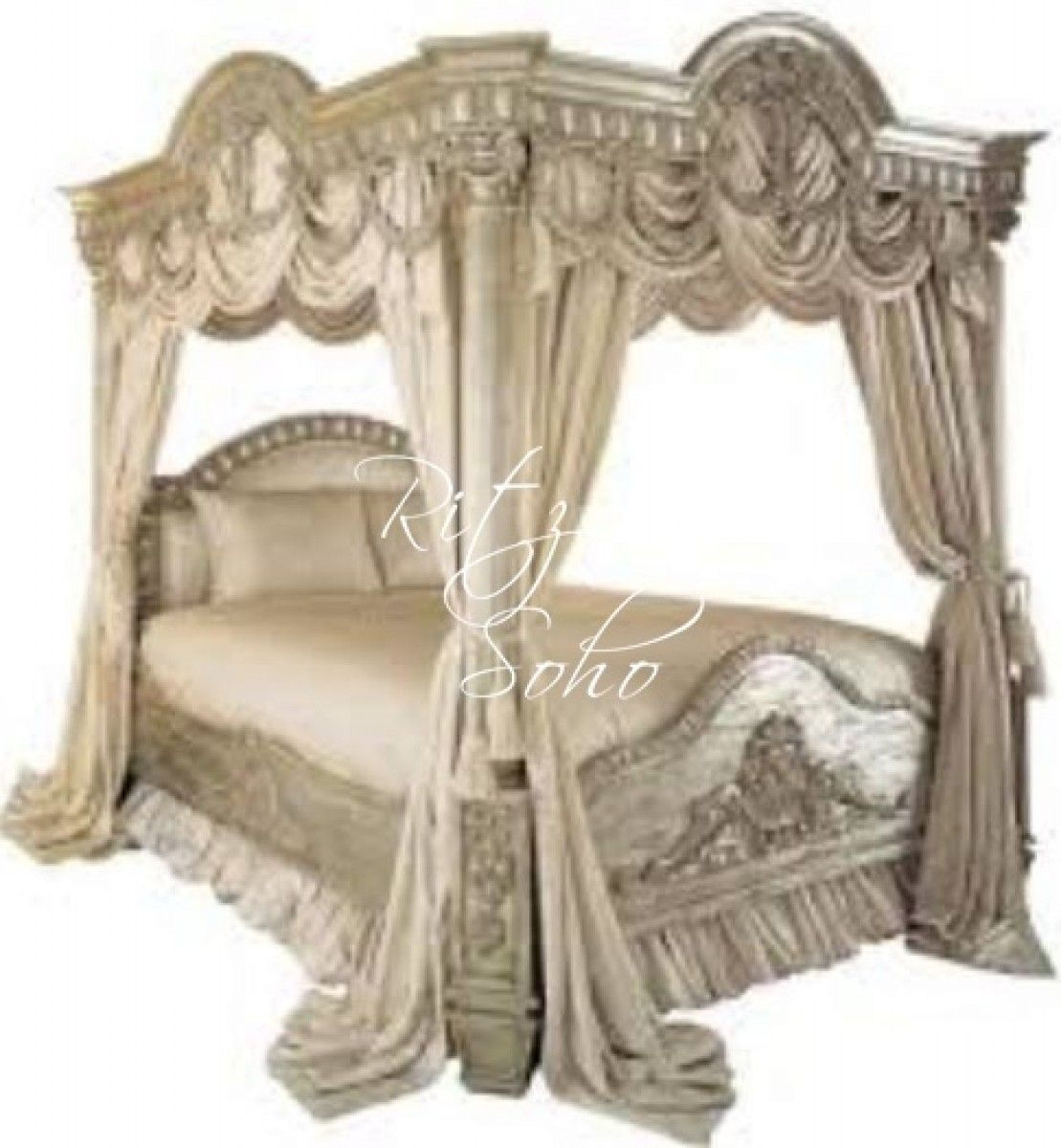 French Canopy Chair Pottery Barn White Desk Bed Pharaoh